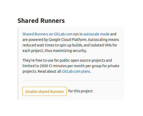 Shared runners